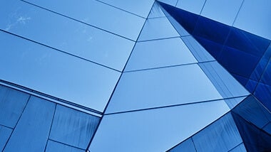 blue glass abstract ceiling